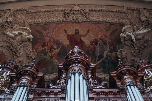 Church Organ, Majestic, Jesus, Christianity, Organ