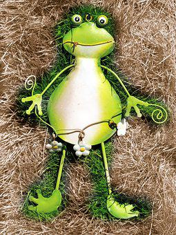 Frog, Green, Green Frog, Close, Toad, Maerechenfiguren