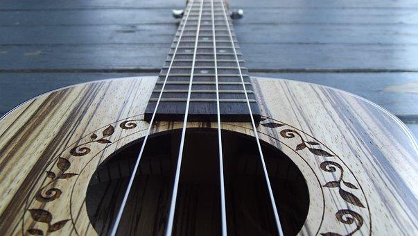 Closeup, Ukulele, Music, Acoustic, Instrument, Hawaii