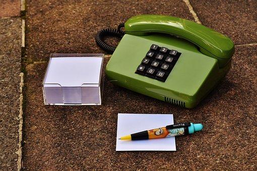 Phone, Eighties, Old, Green, Keys, Communication