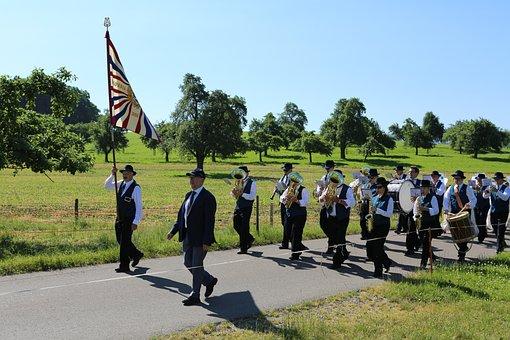 Corpus Christi, Procession, Church, Music Band