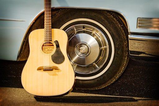 Guitar, Car Tire, Wheels, Hot Rod, Custom Paint