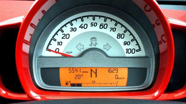 Car, Speedometer, Dashboard, Automobile, Transportation
