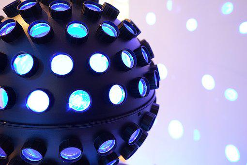 Lighting, Dj, Disco, Spots, Led, Blue, Projection