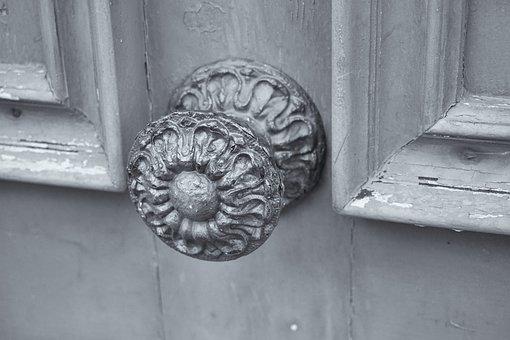 Handle, Metal, Door, Wooden Door, Door Handle, Entée