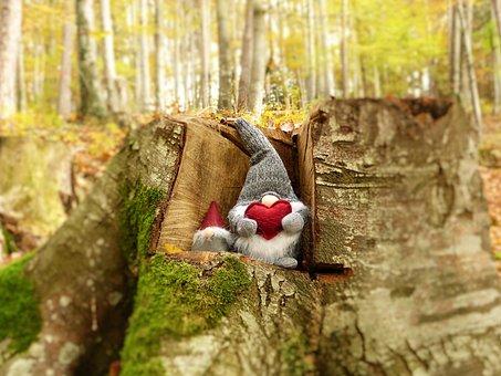 Imp, Brownie, Dwarfs, Forest, Autumn, Fairy Tales, Sage