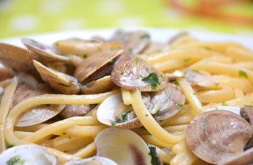 Food, Pasta, Spaghetti, Clams, Kitchen, Eat, Italian