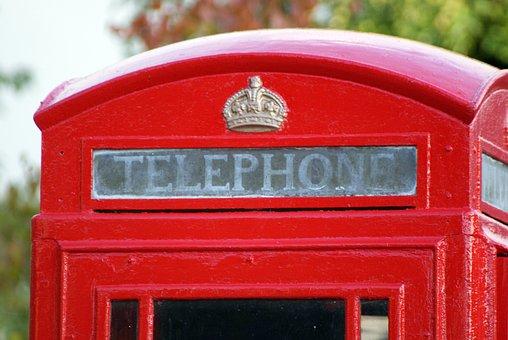 Telephone, Telephone Box, Red, Box, Phone, England, Uk