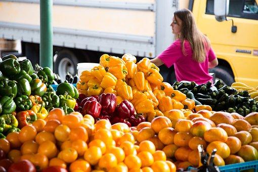Peppers, Food, Fresh Market, Farmer's Market, Farmer