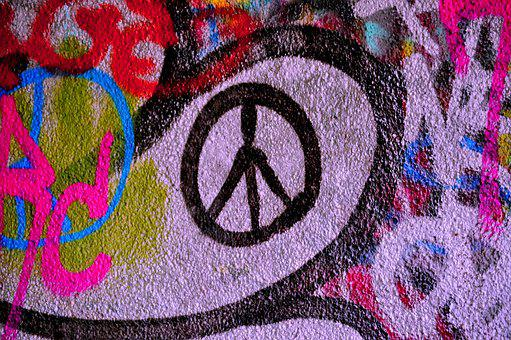 Peace, Graffiti, Colors, Work Of Art, Art, Mural