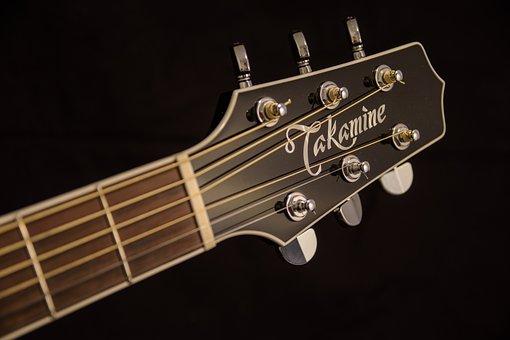 Guitar, Guitar Head, Musical Instrument