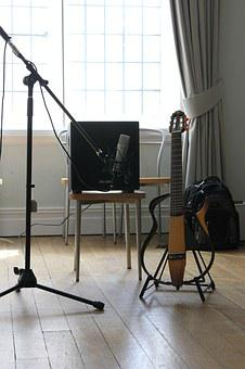 Music, Guitar, Microphone, Electric, Jazz, Instrument