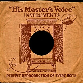 His Masters Voice, Shellac, Shellac Disc, 78rpm