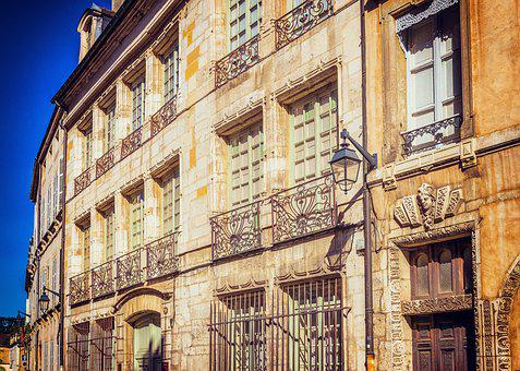 Facade, Architecture, France, Beaune, Live, Homes