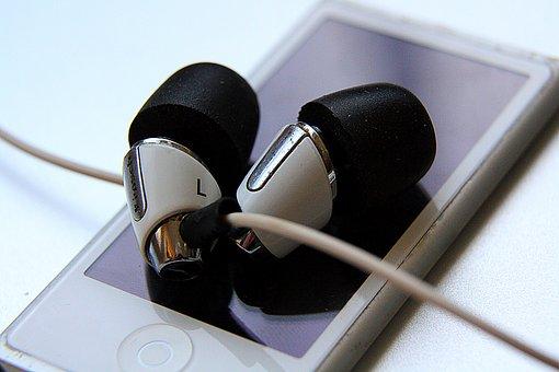 I-pod, In-ears, Music, Earphones, Headphones, Mp3