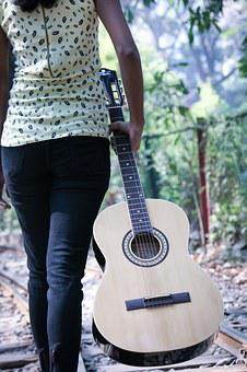 Guitar, Girl, Music, Young, Musician, Instrument