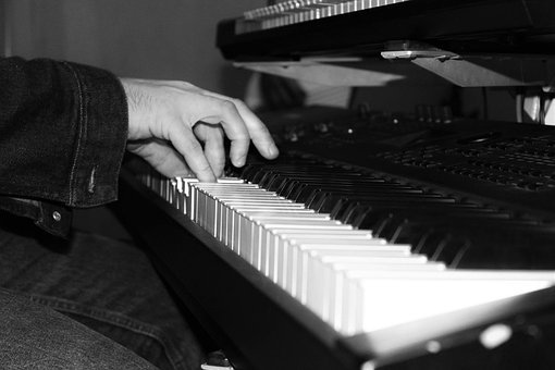 Piano, Keyboard, Music, Black And White, Instrument