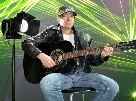 Star, Rock Star, Guitar, Laser Show, Disco Laser, Music