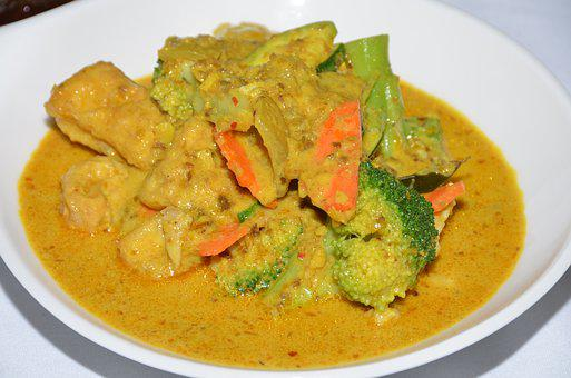 Curry, Malay, Asian, Food, Plate, Restaurant
