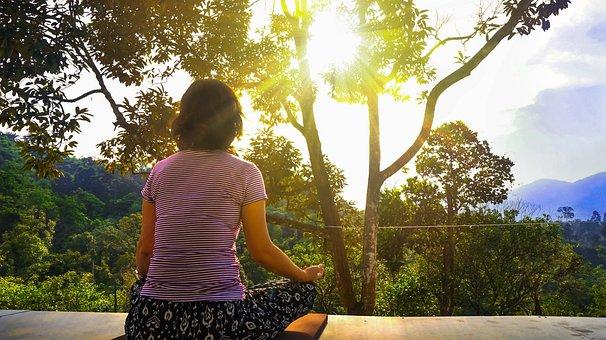Meditation, Woman Meditating, Relaxation, Peaceful