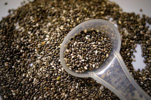 Chia, Chia Seeds, Food, Nutrition, Spoon, Seeds