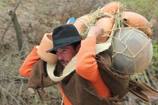 Peasant, Art, Work, Man, Colombia, Worker, Field