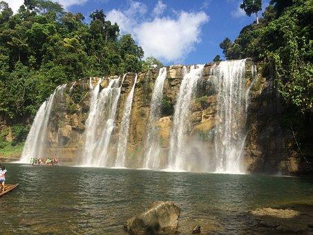 Surigao, Philippines, Waterfalls, Landscape, Travel