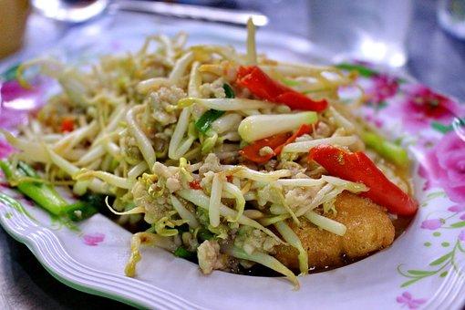 Food, Bean Sprouts, Dish, Pork Chop, Egg Tofu