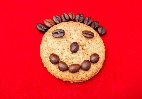 Smile, Laughter, Cookies, Coffee, Portrait, Joy