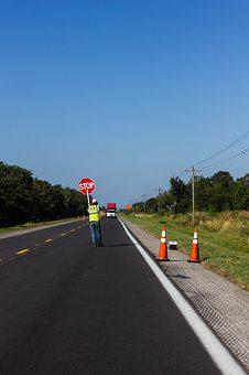 Road, Construction, Safety, Maintenance, Stop, Work