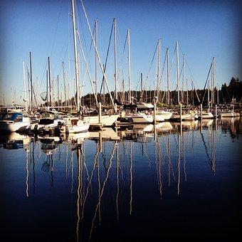 Boat, Sailboat, Ocean, Puget Sound, Water, Summer, Sea