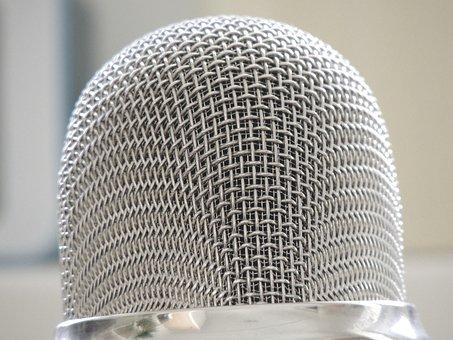 Microphone, Silver, Audio, Micro, Sound