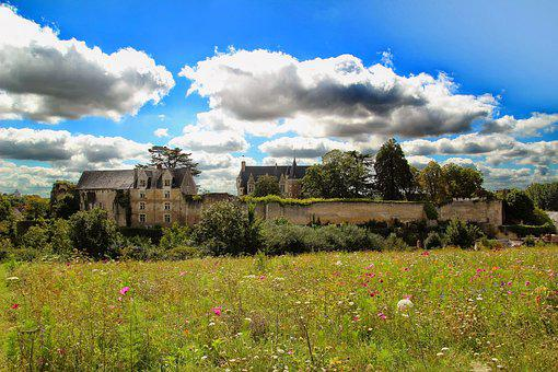 Castle, Village, City Wall, Sky, Clouds, Homes