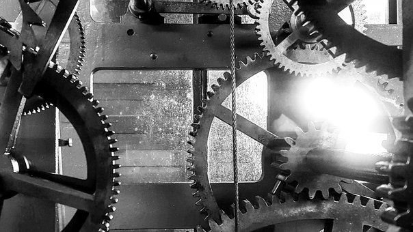 Gears, Clock, Movement, Gear, Time, Mechanics, Pointer