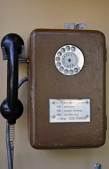 Public Telephone, Phone, Vintage, Old, Tube, Disk