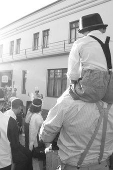 Street Performance, Vintage, People, 1920