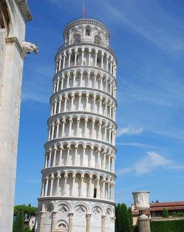 Pisa, Torre, Tower Of Pisa, White, Piazza Dei Miracoli