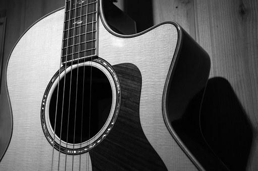 Wood, Black And White, Music, Musician, Grain