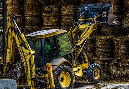 Bulldozer, Heavy Machine, Yellow, Working, Farm