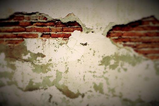Brick Wall, Grunge, Beige, Brown, Concrete, Wall