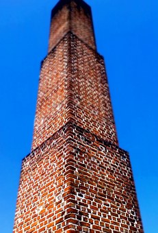 Chimney, Smoke Pipe, Funnel, Bricks, Clinker