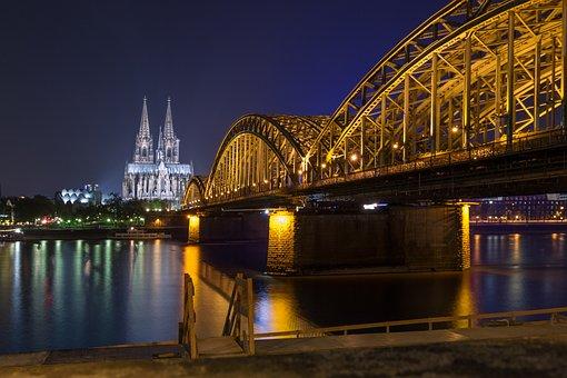 Cologne, Dom, Cologne Cathedral, Bridge, Church
