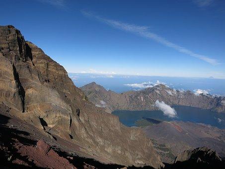 Rinjani, Segara Anak Lake, Crater Lake, Crater, Volcano