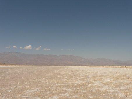 Badwater, Salt Pan, Salt Lake, Salt, Death Valley