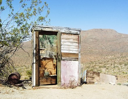 Mojave Desert, Outhouse, Dilapidated, Disrepair