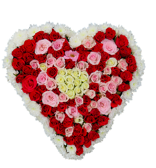 Heart, Flowers, Roses, Love, Birthday, Bouquet, Png