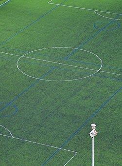 Football, Footballers, Stadium, Green, Football Pitch