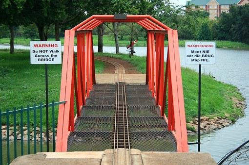 Model Train Bridge, Bridge, Metal, Red, Gauge, Track