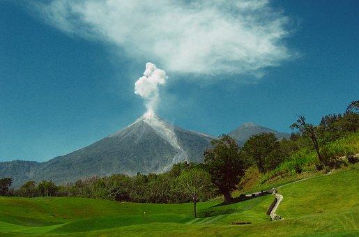 Volcanic Eruption, Volcano, Guatemala, Nature, Smoke