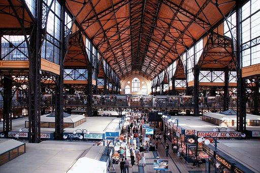 Market Hall, Nagy Vásárcsarnok, Budapest, Hall